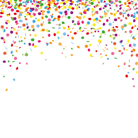 Colored confetti on the white. Eps 10 vector file.