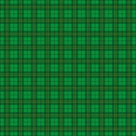 Fondo verde del tartán irlandés. EPS 10 del vector.