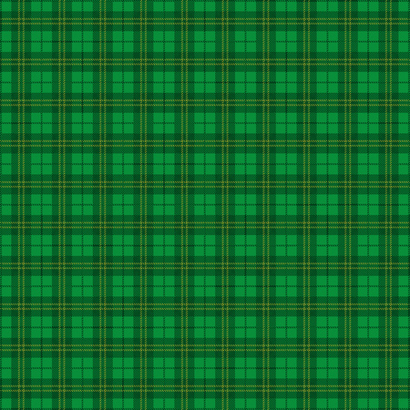 Green irish tartan background. Eps 10 vector file.