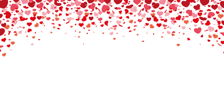 prongs: Colored confetti hearts on the white for Valentines Day. Eps 10 vector file. Illustration