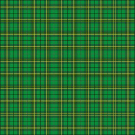 ire: Green irish tartan fabric.
