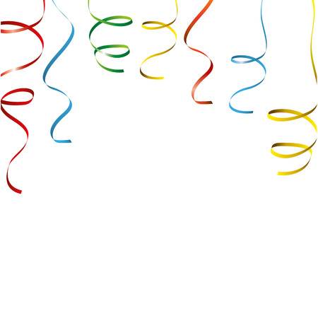 wedding parade: Colored ribbons on the white. Eps 10 vector file. Illustration