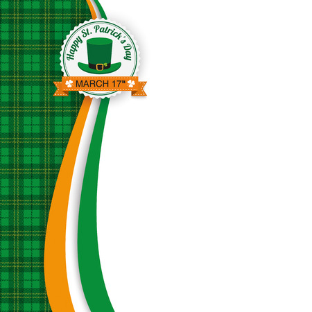 chequered ribbon: Green irish tartan background for St. Patricks Day. Eps 10 vector file.