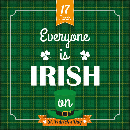 17th march: Vintage tartan cover for St. Patricks Day. Eps 10 vector file. Illustration