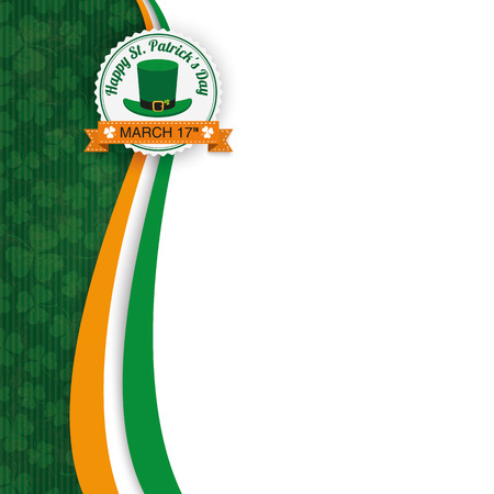 Vintage background with emblem for St. Patrick's Day. Eps 10 vector file.