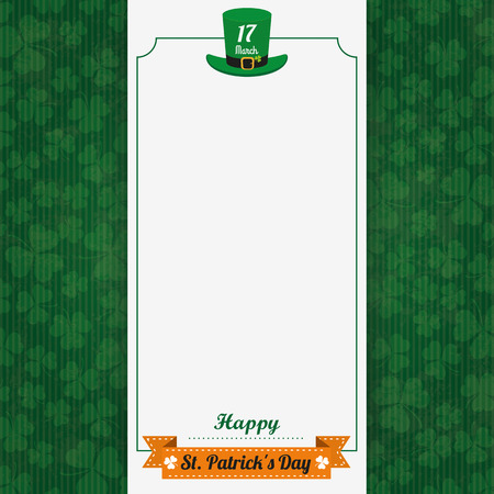 17th march: Vintage background with white banner for St. Patricks Day. Eps 10 vector file.