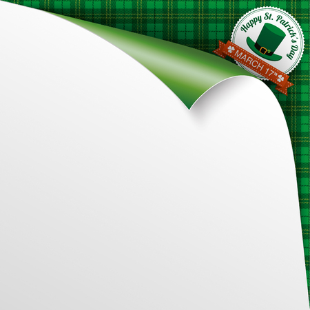 scrolled: Green irish tartan background. Eps 10 vector file.