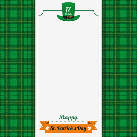 17th: Green irish tartan background for St. Patricks Day. Eps 10 vector file.
