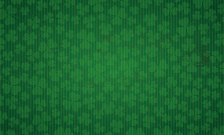 Vintage background with shamrocks for St Patricks Day. Eps 10 vector file.