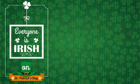 17th: Vintage background with ribbon for St Patricks Day. Eps 10 vector file.