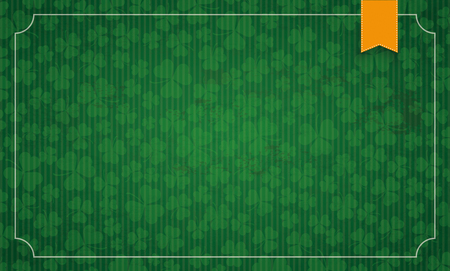 17th of march: Vintage frame with shamrocks for St Patricks Day. Eps 10 vector file.