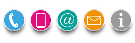 Contact Us icons on the white background. Eps 10 vector file.