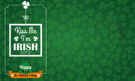 ire: Vintage background with ribbon for St Patricks Day. Eps 10 vector file.