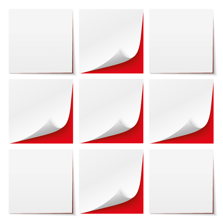 coordinated: 9 white sticks with red background. Eps 10 vector file. Illustration