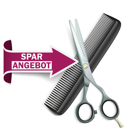 haircutter: German text Sparangebot, translate Discount Offer.