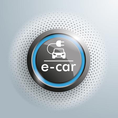 Botón con el símbolo de correo coche en el fondo gris.