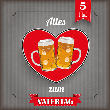 Liebe: German text Alles Liebe zum Vatertag, translate Happy Fathers Day. Illustration