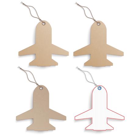 jets: 4 cardboard paper jets on the white background. Illustration