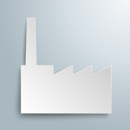 company person: Paper industry building on the gray background.