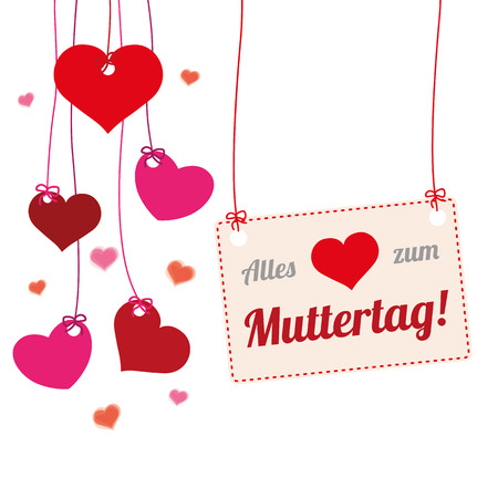 mothersday: German text  Alles Liebe zum Muttertag, translate Happy Mothers Day.