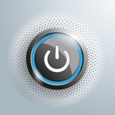 connect people: Power button with halftone on the gray background.