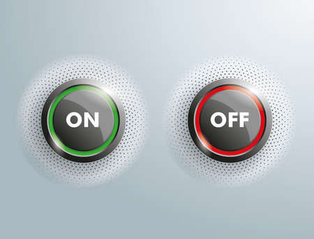 energizing: 2 On Off buttons on the gray background.