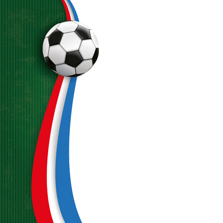 green and black: Cover with football, green and white background and french national colors.