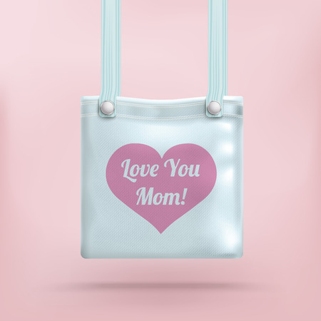 love mom: Purse with text Love You Mom. Illustration