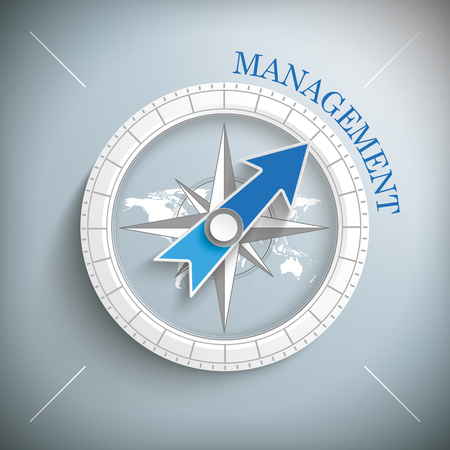 Compass with the text Management. vector file.