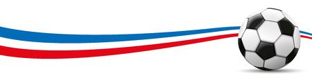 Calcio classico con la bandiera dei Paesi Bassi su sfondo bianco. File vettoriale.