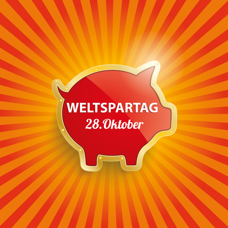 fonds: German text Weltspartag, translate World Savings Day. vector file.