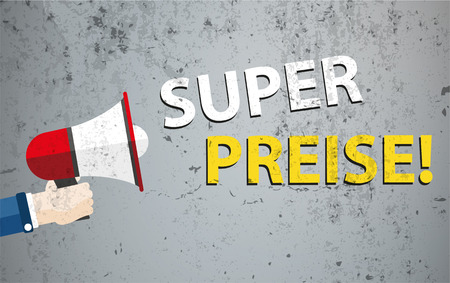 promote: German text Super Preise, translate Best Prices. vector file.