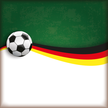 national colors: Football cover with german national colors. vector file.