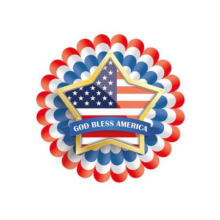 golden star: White independence day background design with US-Flag golden star. vector file. Illustration