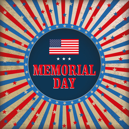us grunge flag: Vintage background design for Memorial Day. vector file.
