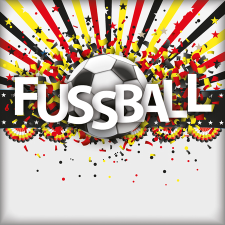 German text Fussball, translate Football. 10 vector file.