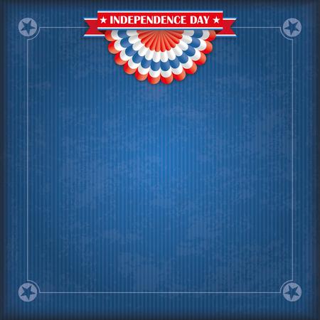 Vintage Abdeckung mit US-Flagge Bunting, Band für Unabhängigkeitstag. 10 Vektor-Datei.