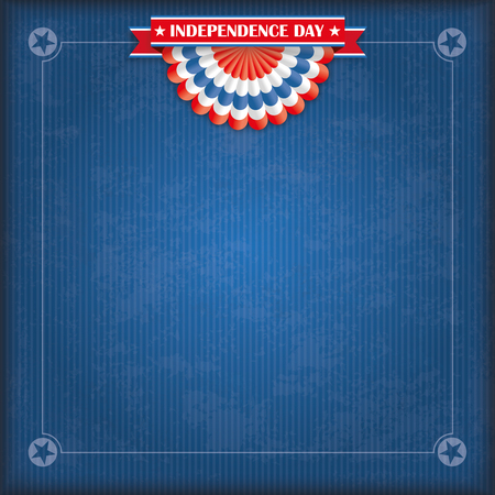 american flag: Vintage cover with US-Flag bunting, ribbon for Independence Day. 10 vector file.