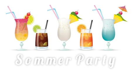 """Deutscher Text """"Sommer Party"""", übersetzt """"Sommerfest"""". 10 Vektordatei. Standard-Bild - 60299802"""