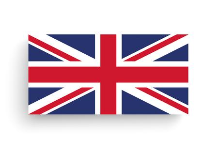 Union Jack, flag of United Kingdom on the white. 10 vector file. Illustration