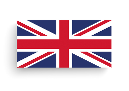 union jack flag: Union Jack, flag of United Kingdom on the white. 10 vector file. Illustration