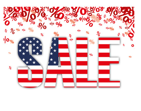 onlineshop: Red percents confetti with text Sale on the white. 10 vector file.