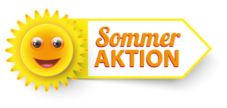 German text Sommer Aktion, translate Summer Sale. 10 vector file.