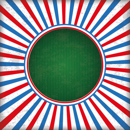 Vintage red and blue colored background with green hole. 10 vector file. Ilustração