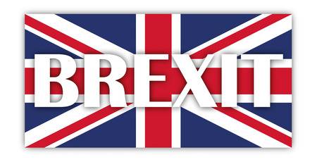 union jack flag: Union Jack, flag of United Kingdom on the white with text Brexit. 10 vector file. Illustration