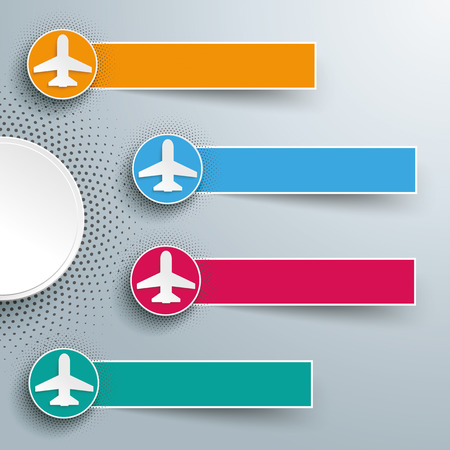 jets: Infographic design with jets and banners on the gray background. 10 vector file. Illustration