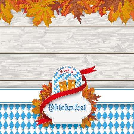 drapes: Oktoberfest design on the white background. vector file.
