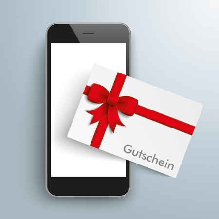 chit: German text Gutschein, translate Coupon. vector file. Illustration