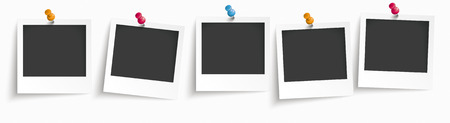 5 instant photos on the white background. vector file.