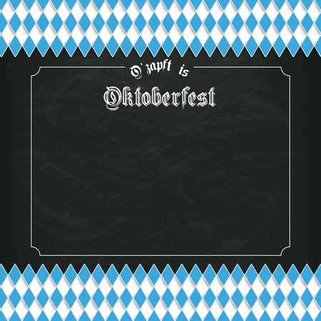 bretzel: German text O?zapft is and Oktoberfest, translate on tap and Oktoberfest. vector file. Illustration